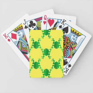 Cute Cartoon Frogs Bicycle Playing Cards