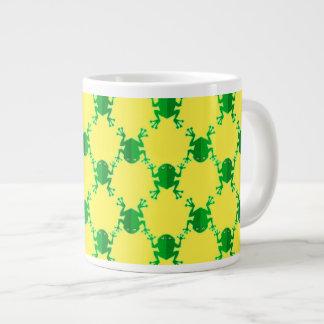 Cute Cartoon Frogs Large Coffee Mug