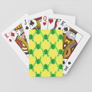 Cute Cartoon Frogs Poker Deck