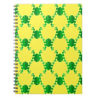 Cute Cartoon Frogs Spiral Note Book