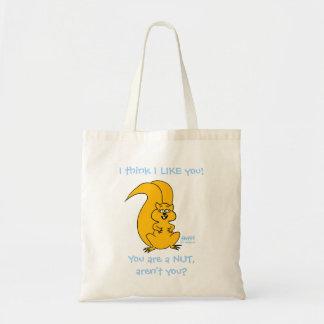 Cute Cartoon Funny Squirrel Friendship Tote Budget Tote Bag