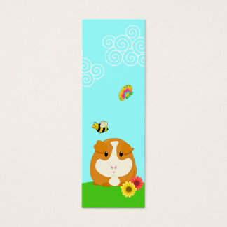 Cute Cartoon Ginger Brown Guinea Pig Bookmark Mini Business Card