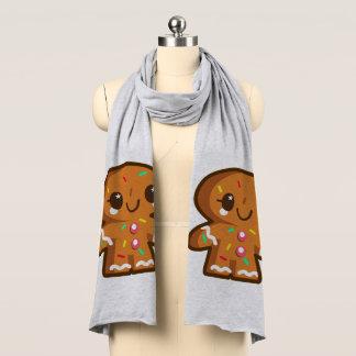 Cute Cartoon Gingerbread Boy/Girl Scarf