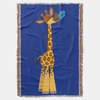 Cute Cartoon Giraffe And Flower