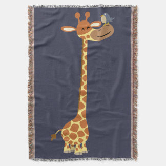 Cute Cartoon Giraffe And Friend