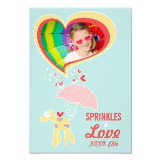 Cute Cartoon Giraffe Classroom Kid Valentine Photo 9 Cm X 13 Cm Invitation Card
