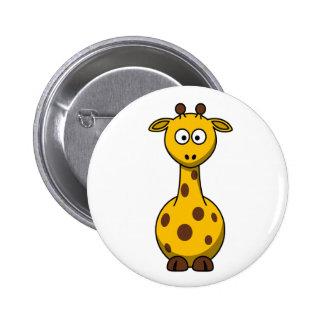 Cute Cartoon Giraffe Clipart 6 Cm Round Badge
