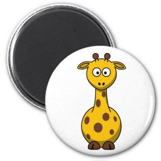 Cute Cartoon Giraffe Clipart 6 Cm Round Magnet