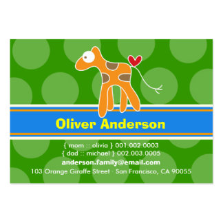 Cute Cartoon Giraffe Photo Profile Calling Card Business Card
