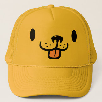 Cute Cartoon Golden Retriever Dog Trucker Hat