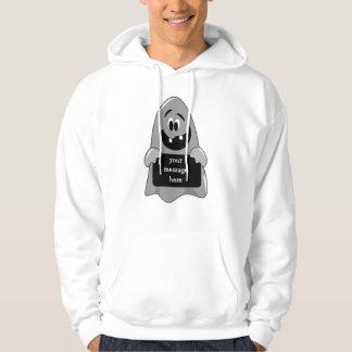 Cute Cartoon Goofy Ghost Halloween Customizable Sweatshirt