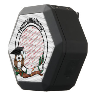 Cute Cartoon Graduation Owl With Cap & Diploma Black Boombot Rex Bluetooth Speaker