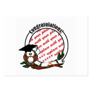 Cute Cartoon Graduation Owl With Cap & Diploma Business Card