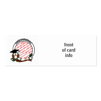Cute Cartoon Graduation Owl With Cap & Diploma Business Cards