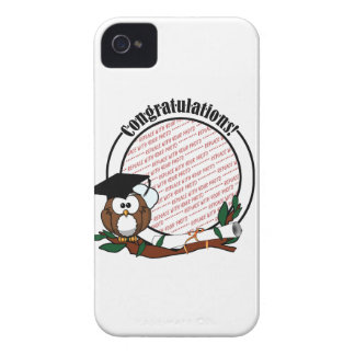Cute Cartoon Graduation Owl With Cap & Diploma iPhone 4 Cover