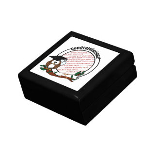 Cute Cartoon Graduation Owl With Cap & Diploma Gift Box