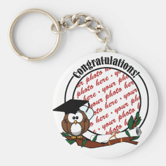 Cute Cartoon Graduation Owl With Cap & Diploma Keychains