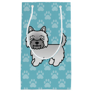 Cute Cartoon Grey Cairn Terrier Small Gift Bag
