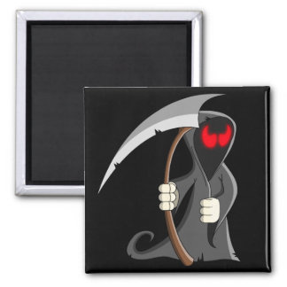 Cute Cartoon Grim Reaper Halloween Magnet
