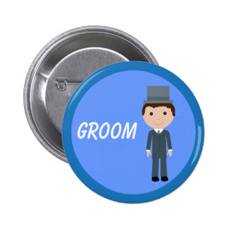 Cute Cartoon Groom 6 Cm Round Badge