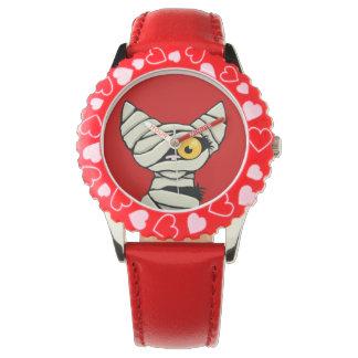 Cute Cartoon Halloween Mummy Cat Wrist Watch
