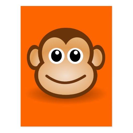Happy Cartoon Gorilla Face Happy Cartoon G...