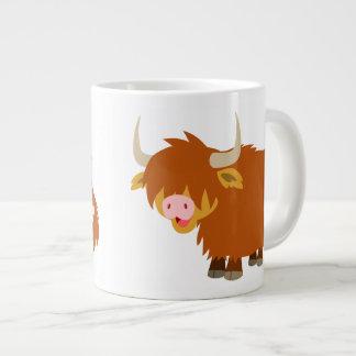 Cute Cartoon Highland Cow Large Coffee Mug