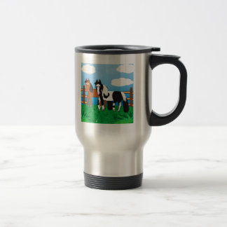 Cute Cartoon horse Travel Mug
