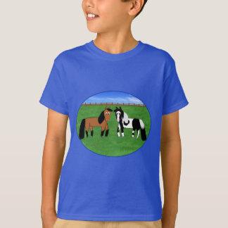 Cute Cartoon Horses T-Shirt