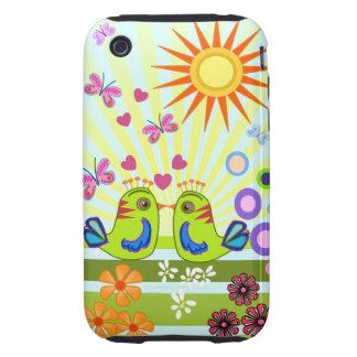 Cute Cartoon iphone 3G / 3GS case Love Birds Tough iPhone 3 Cases