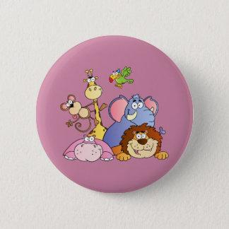 Cute Cartoon Jungle Animals 6 Cm Round Badge