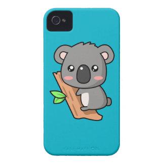 Cute Cartoon Koala Bear on Eucalyptus Tree iPhone 4 Case