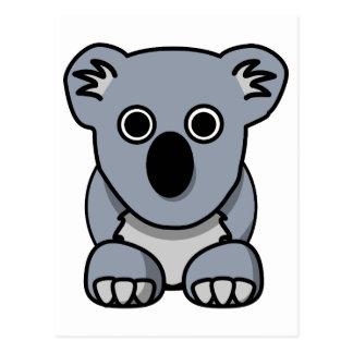 Cute cartoon koala bear postcard