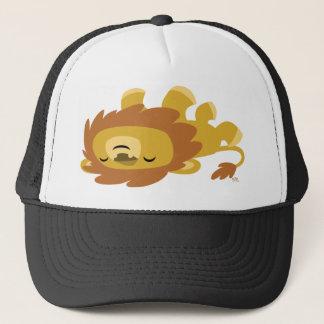 Cute Cartoon Lazy Lion Trucker Hat