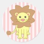 Cute Cartoon Lion Stickers