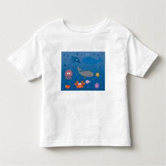 Cute Cartoon Marine Life T-shirt