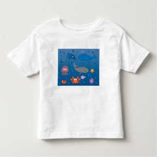 Cute Cartoon Marine Life Toddler T-Shirt