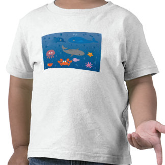 Cute Cartoon Marine Life Tshirts