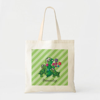 Cute Cartoon Momma Turtle and her Babies Tote Bag