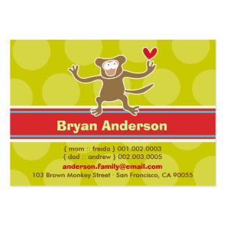 Cute Cartoon Monkey Kid Photo Profile Calling Card Business Card Templates