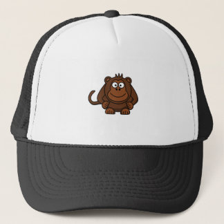 Cute Cartoon Monkey Template Trucker Hat