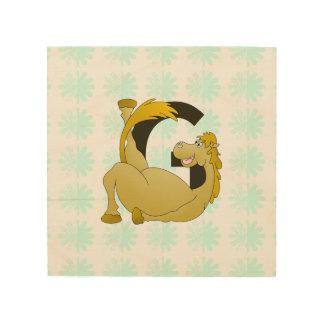 Cute Cartoon Monogram Pony G Wood Canvases