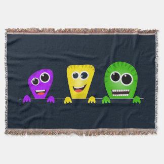 Cute cartoon monsters gang