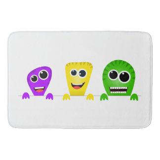 Cute cartoon monsters gang bath mats