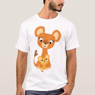 Cute Cartoon Mother Lion and cub- Children T-shirt