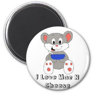 Cute Cartoon Mouse 6 Cm Round Magnet