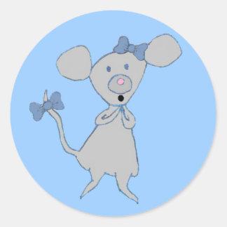 Cute Cartoon Mouse Classic Round Sticker
