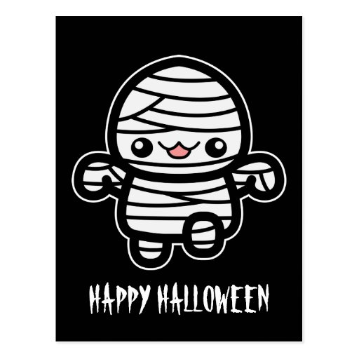 Cute Cartoon Mummy Post Cards