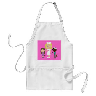 Cute Cartoon Nurse & Children Standard Apron