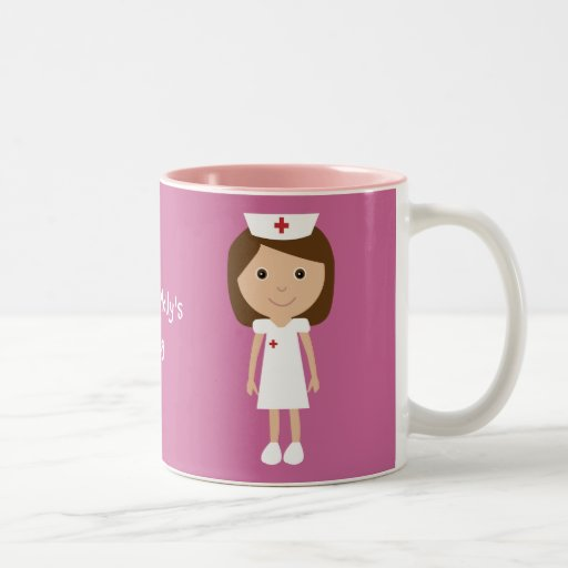 Cute Cartoon Nurse Personalized Pink Mug